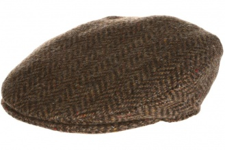 Men's tweed caps Vintage Cap Tweed Brown Herringbone
