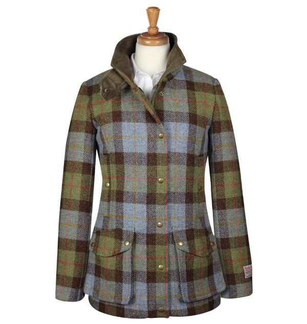 Women's Tweed Overcoats Joanna Green Blue