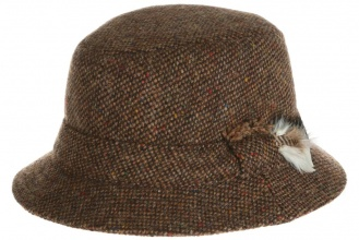 Men's tweed hats Dave Hat Tweed Brown Salt-n-Pepper