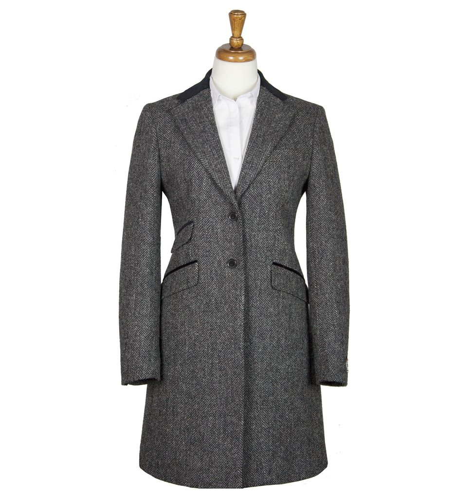 Women's Tweed Overcoats Tori Charcoal