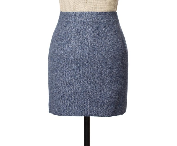 Women's Tweed Skirts Shirley Blue