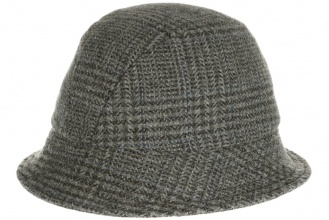 Men's tweed hats Eske Hat Tweed Grey Window Pattern