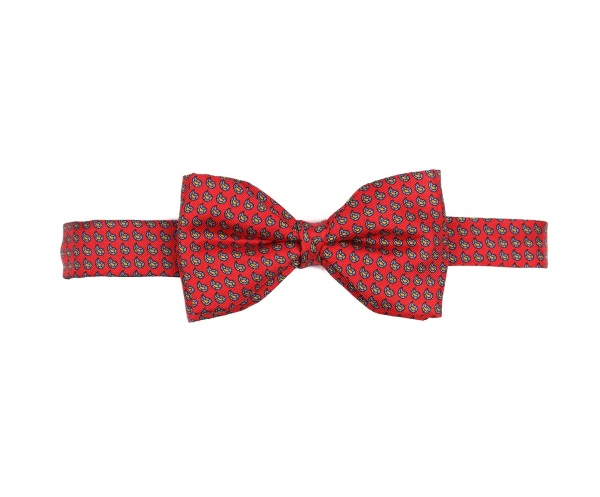 Men's tweed bow ties Mini Paisley Red