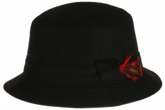 Men's tweed hats Dave Hat Tweed Solid Black