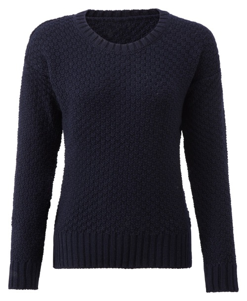 Women's Knitwear Boatneck Navy