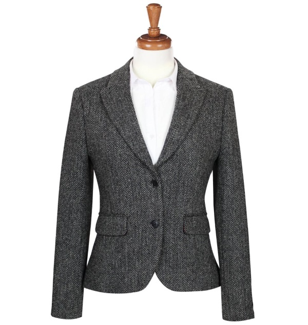 Women's Tweed Jackets Tammy Charcoal