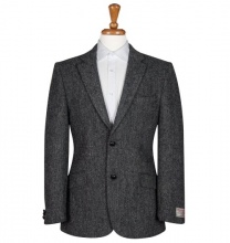 Men's Tweed Jackets & Blazers Patrick Charcoal