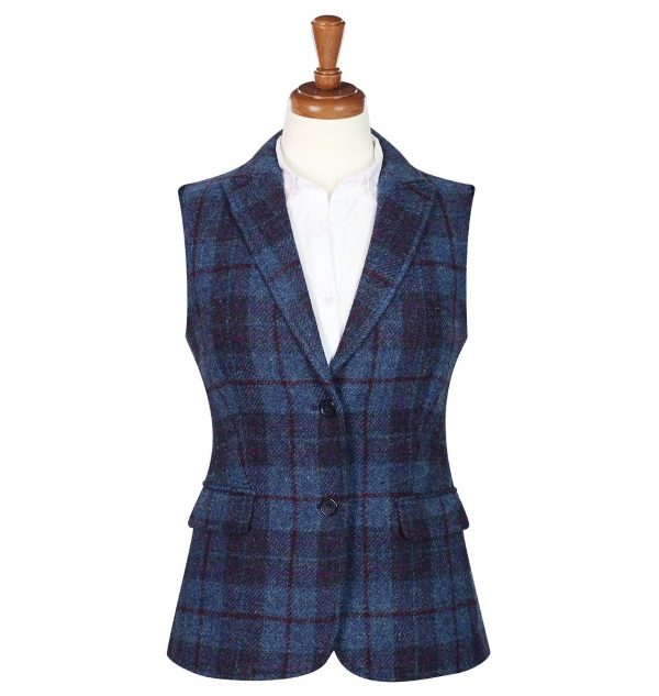 Women's Tweed Waistcoats Pippa Blue Red
