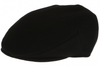 Men's tweed caps Vintage Cap Tweed Solid Black