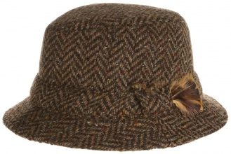 Men's tweed hats Dave Hat Twee Brown Herringbone