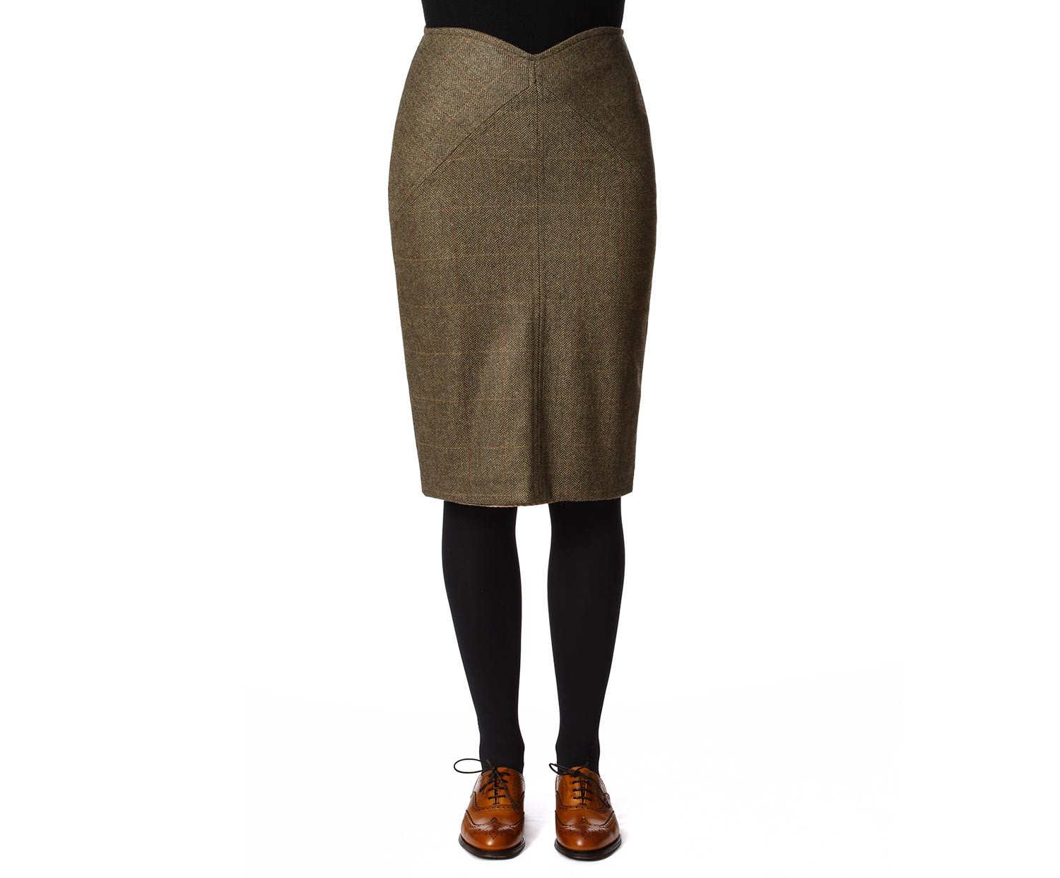 Women's Tweed Skirts Victoria Green