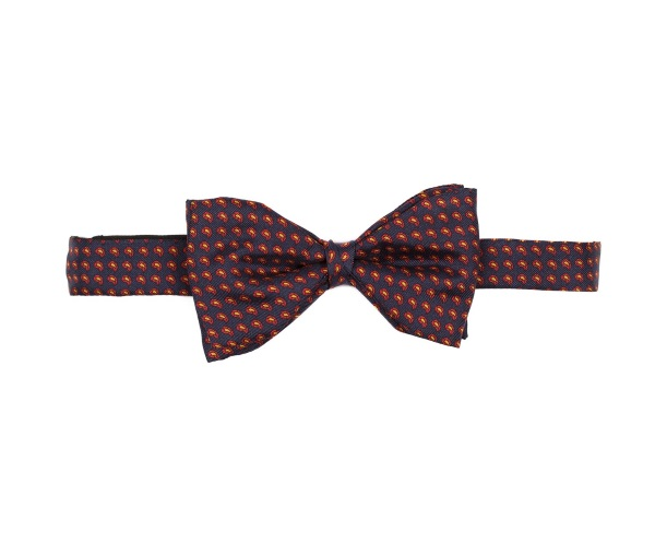 Men's tweed bow ties Mini Paisley Navy