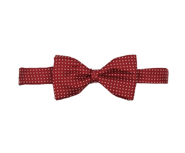Men's tweed bow ties Pin Dot Burgundy