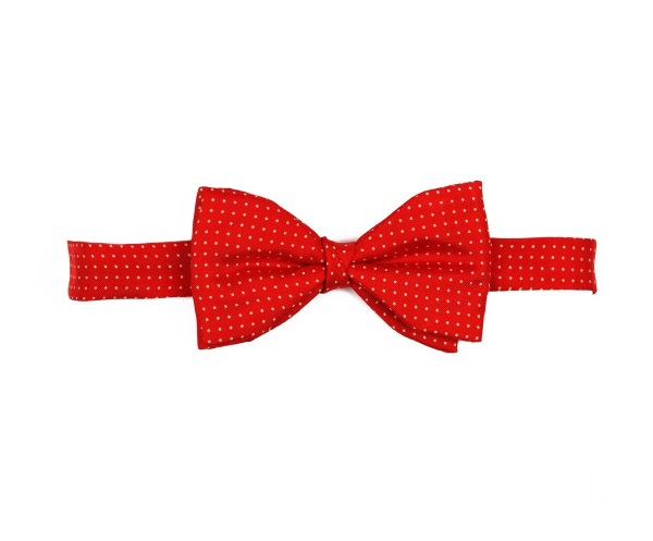 Bow Ties Pin Dot Red