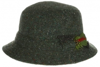 Men's tweed hats Dave Hat Tweed Green Salt-n-Pepper