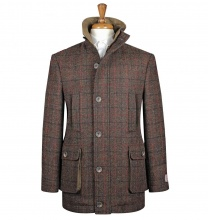 Coats Boyd Coat Rust Red Check