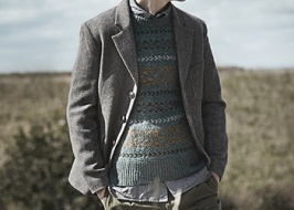 Pullover with tweed