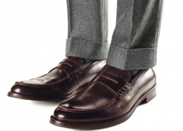 Tweed and classical shoes