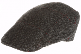 Men's tweed caps Donegal Touring Cap Tweed  Grey Window Pattern