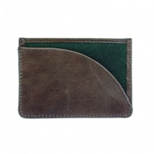 Leather Langdale Card Holder Green