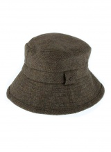 Hats Abraham Moon Herringbone Bucket Hat Spruce