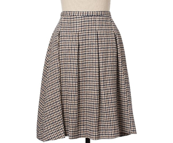 Women's Tweed Skirts Georgia Black Puppytooth