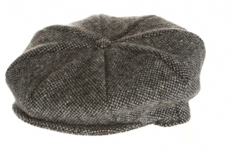 Men's tweed caps Eight Piece Cap Tweed Grey Salt-n-Pepper
