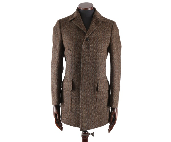 Men's Tweed Overcoats Joe Green Orange