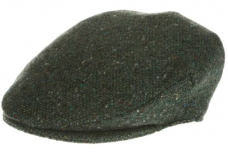 Men's tweed caps Vintage Cap Tweed Green Salt-n-Pepper