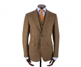 Men's Tweed Jackets & Blazers Edward Mustard