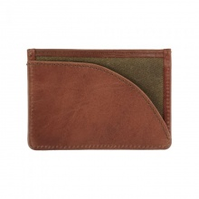 Leather Langdale Card Holder Olive