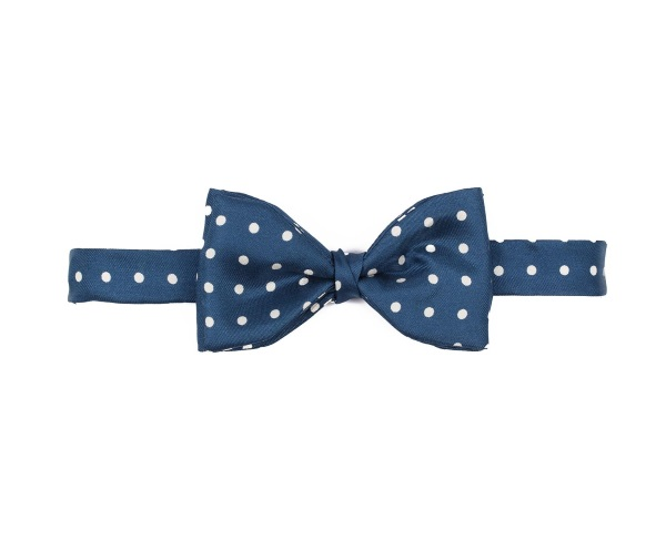 Men's tweed bow ties Polka Dot Navy