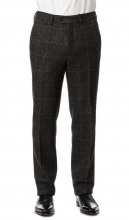 Trousers Edward Charcoal Green