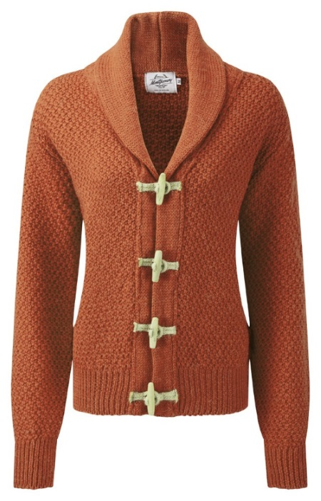 Women's Knitwear Toggle Burnt Orange