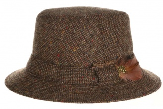 Men's tweed hats Walking Hat Tweed Brown Salt-n-Pepper