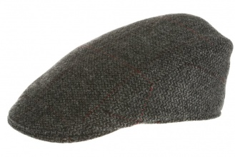 Men's tweed caps Tailor Cap Tweed Grey Window Pattern