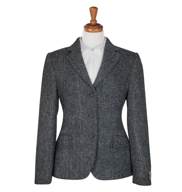 Women's Tweed Jackets Hacking Charcoal