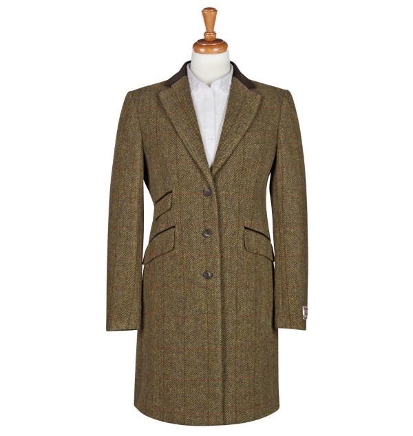 Women's Tweed Overcoats Tori Mustard