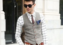 Tweed is a must have of a modern dandy