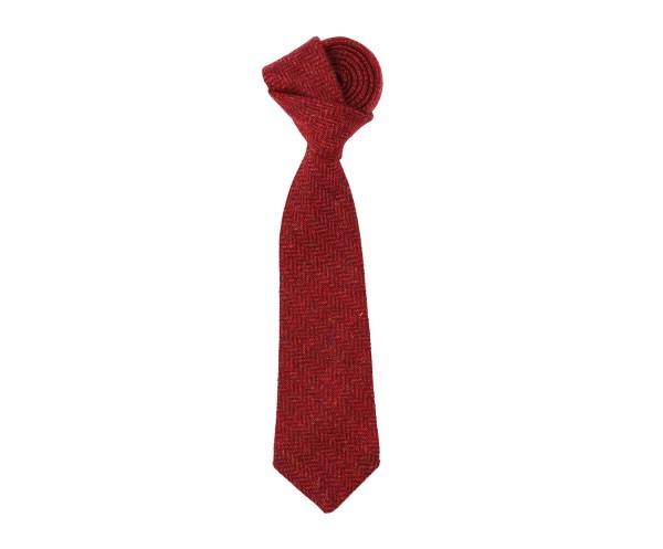 Men's tweed ties Herbert Red