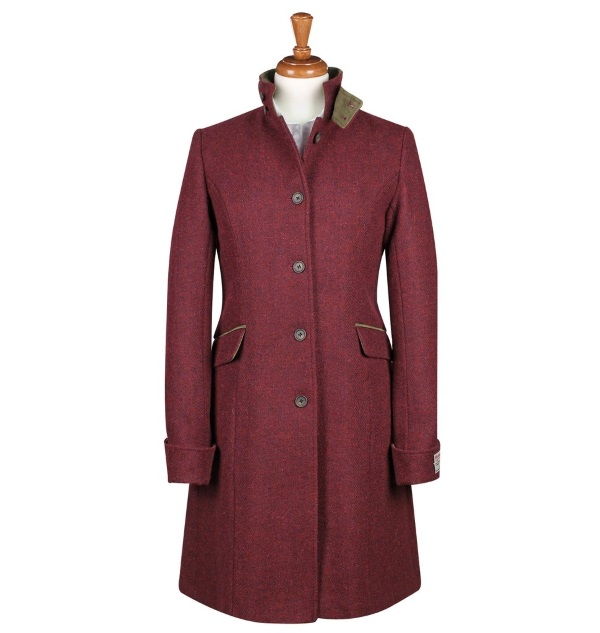 Women's Tweed Overcoats Fiona Burgundy