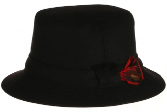Men's tweed hats Walking Hat Tweed Solid Black