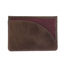 Leather Langdale Card Holder Dark Port