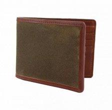 Leather Langdale Wallet Olive