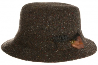 Men's tweed hats Walking Hat Tweed Brown