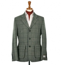 Men's Tweed Jackets & Blazers Callum Utility Green