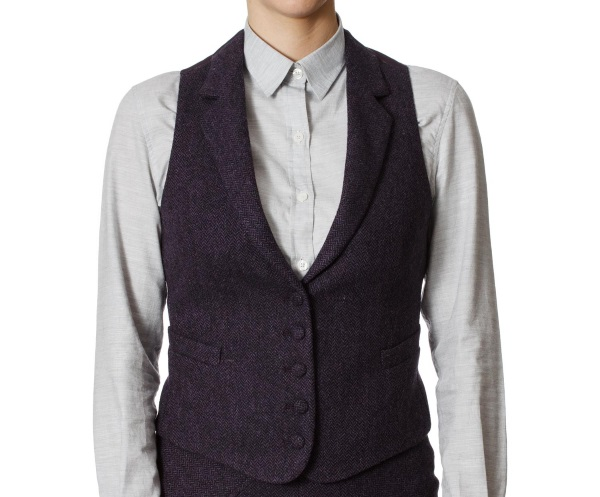 Women's Tweed Waistcoats Iona Purple