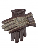 Men's Gloves Dents Harris Tweed and Hairsheep Leather Gloves