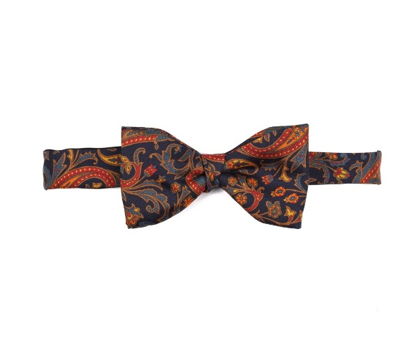 Men's tweed bow ties Spike Paisley Navy