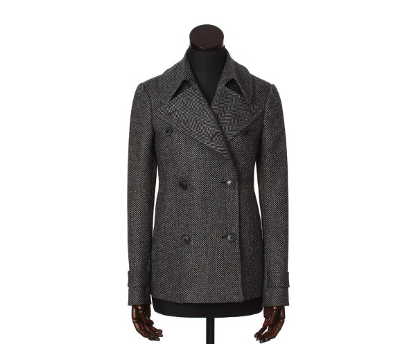 Women's Tweed Overcoats Plaidy Charcoal